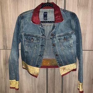 Gap Denim Jacket Woman's Unique Decoration Jacket
